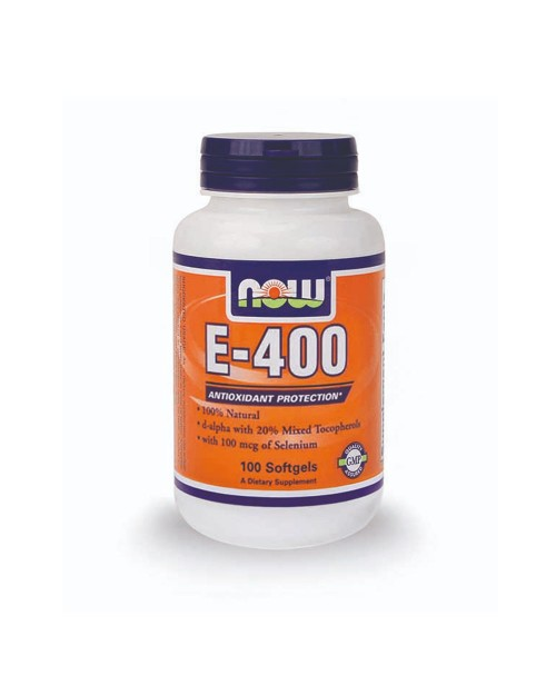 Now E 400 Iu Natural Me Selenium 100Mcg 100 Κάψουλες