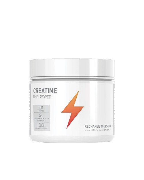 Battery Nutrition Creatine 500gr Unflavored(Χωρίς Γεύση)