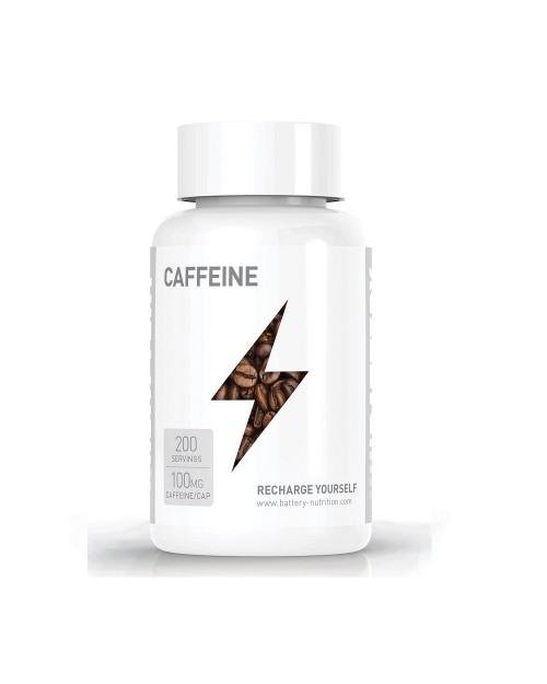 Battery Nutrition Caffeine 100 Mg 200 Caps